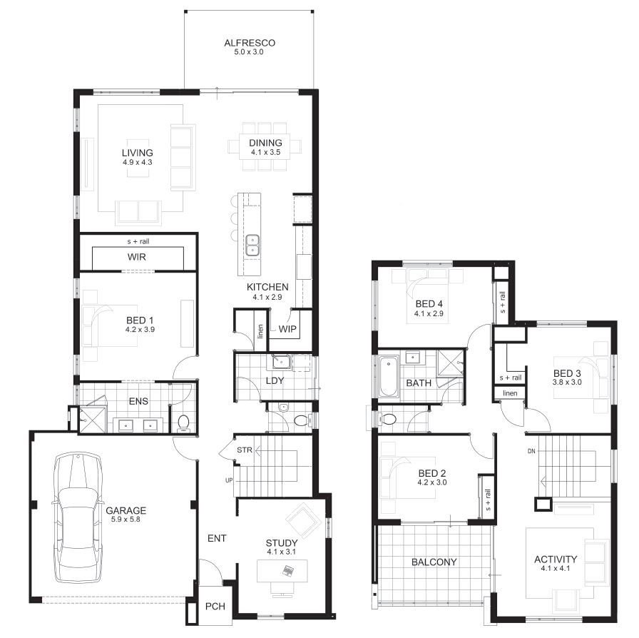 bedroom house designs perth double storey apg homes house