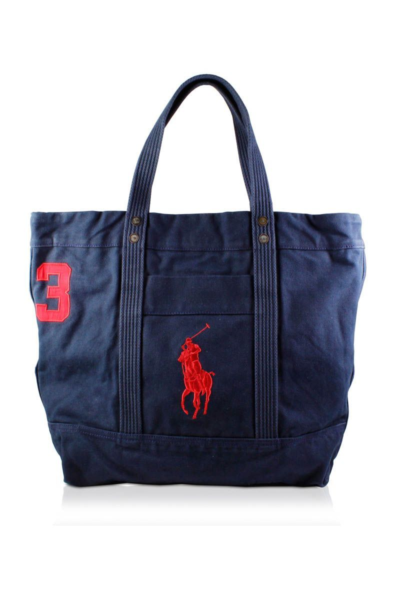767dd0ad3b Big Pony Tote (Aviator Navy) from Polo Ralph Lauren Totes