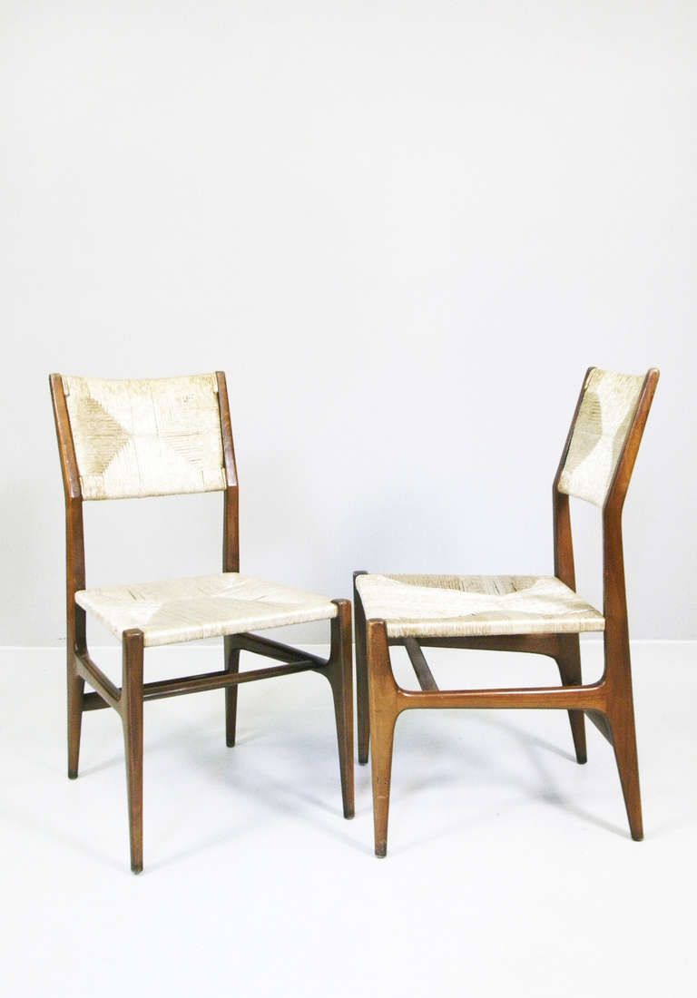 A pair of chairs variation of leggera by gio ponti ca for Mobili danesi
