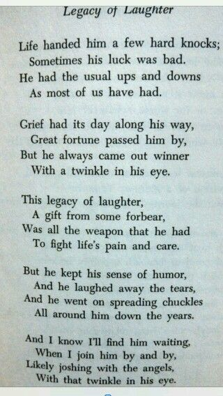 Legacy of laughter... | Gifts for Him | Miss you dad ...