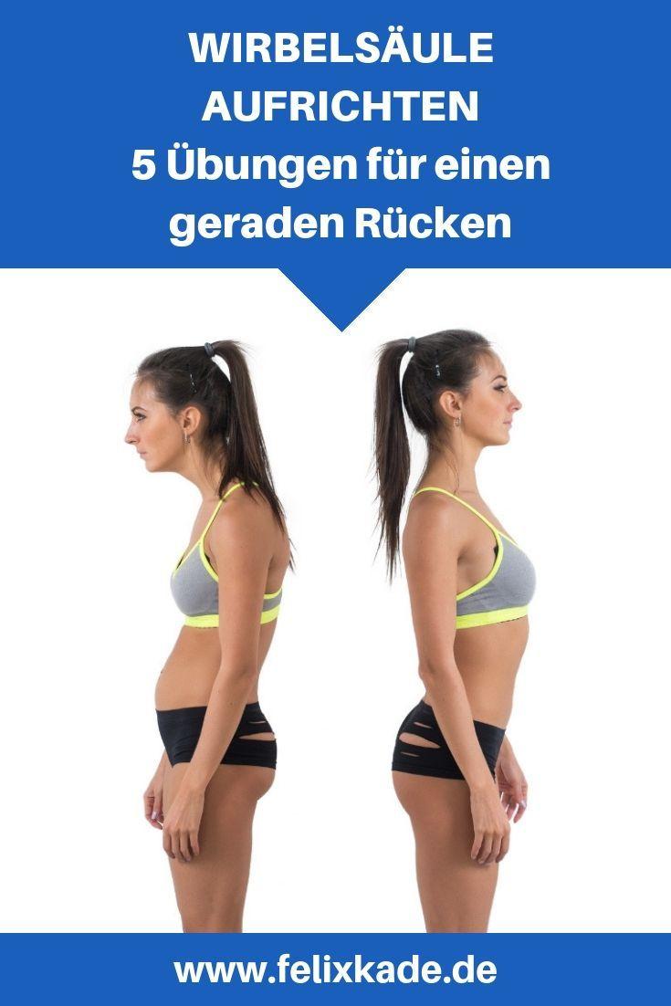 Wirbelsäule aufrichten: 5 Übungen für einen geraden Rücken