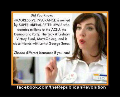 Progressive insurance aclu