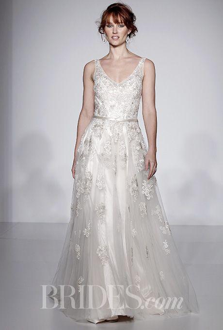 Carolina Herrera Spring 2017 Aria Silk Organza Gown With Illusion V Neckline Maggie Sottero Wedding Dresses2016