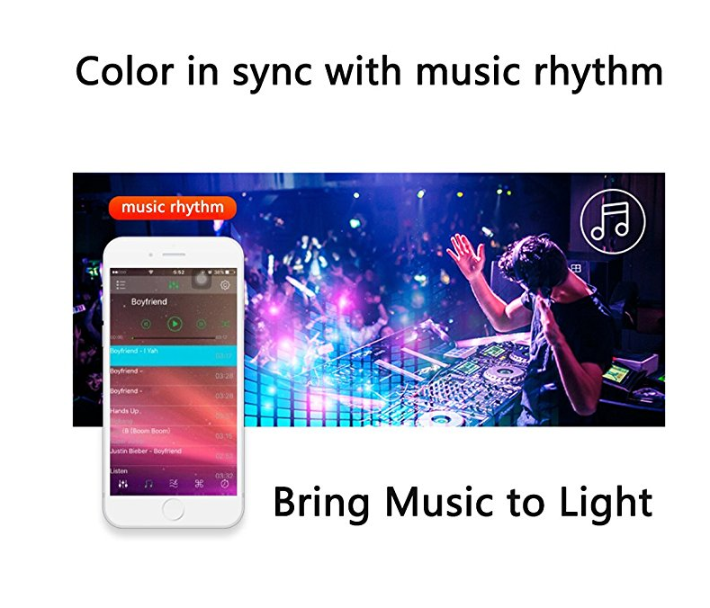 Bluetooth 16 Color Changing Sync with Music APP Controller