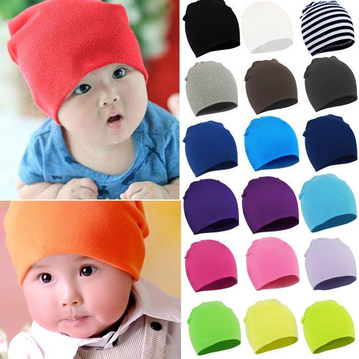 Infant Kids Baby Boys Girls Cotton Colorful Hip Hop Hat Cap Comfortable Beanie