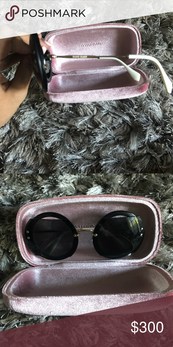 73f6b0fedaa Miu Miu round cut out glasses New with caS box and cloth Miu Miu Accessories  Sunglasses