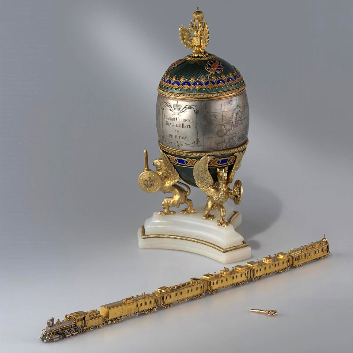 The imperial train was immortalized by faberg as the surprise of the imperial train was immortalized by faberg as the surprise of the trans siberian tsar nicholas iifaberge eggsimperial russiaeaster gifteaster negle Gallery