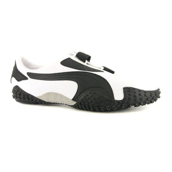 brand new 68a74 38639 Mens Puma Mostro Leather White Black Trainers UK 6.5