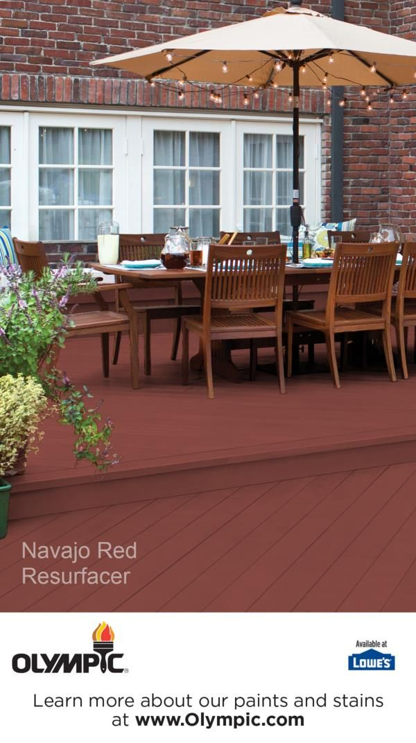 Navajo Red Is A Part Of The Olympic Resurfacer Colors Collection By Stains