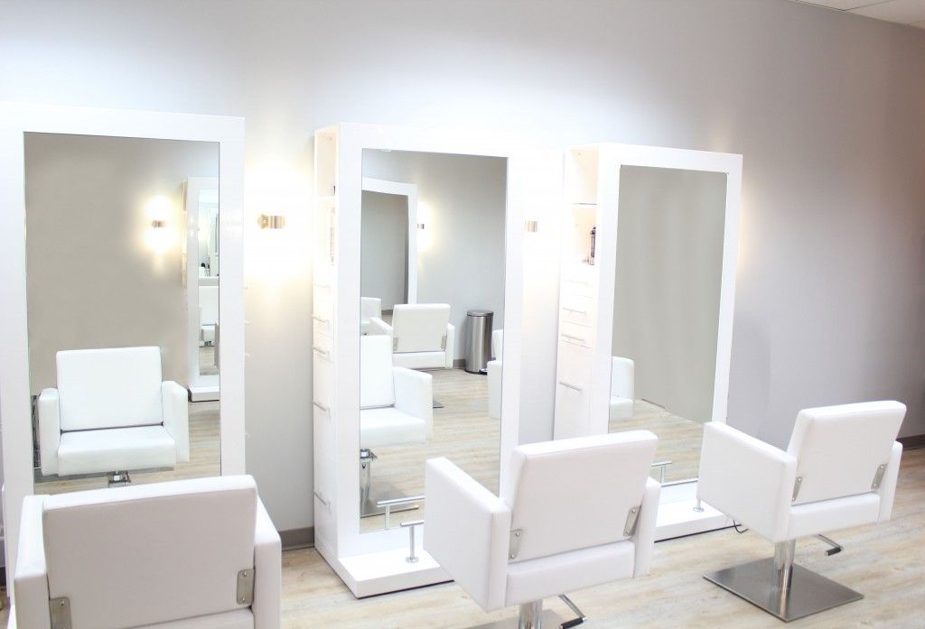 Contemporary Hair Stations Clean And Modern Lines Embrace The Salon S Trendy And Modern