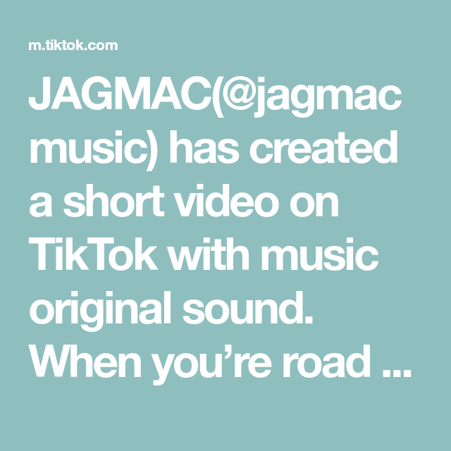 Jagmac Jagmacmusic Has Created A Short Video On Tiktok With Music Original Sound When You Re Road Tripping In West Virginia Singing The Originals Music