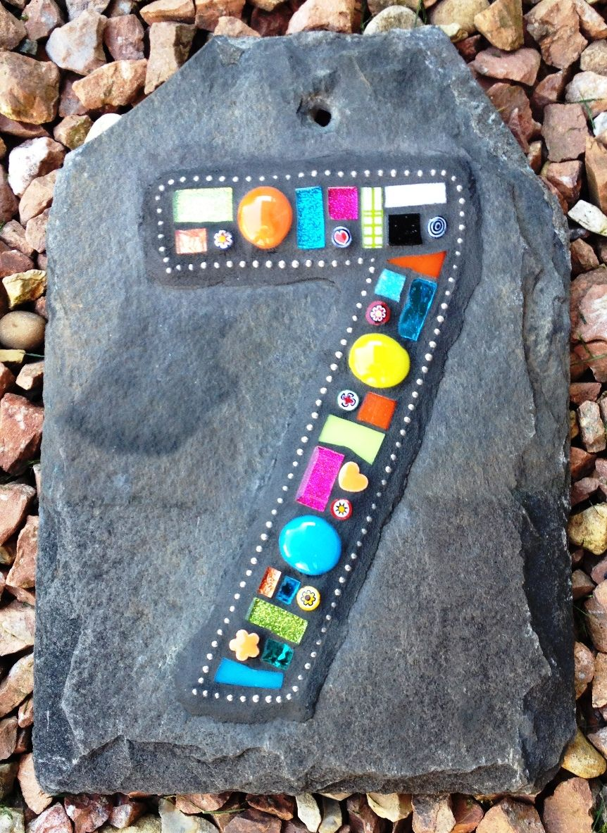 Pin on Mosaic letters and numbers