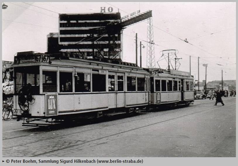 Berlin 1952 Linie 67 am Potsdamer Platz