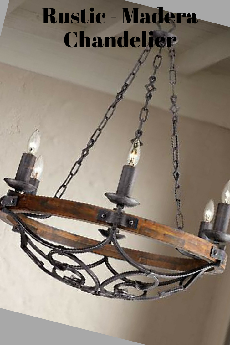 Madera 28 14 wide black iron hand forged chandelier lighting madera 28 14 wide black iron hand forged chandelier lighting aloadofball Images