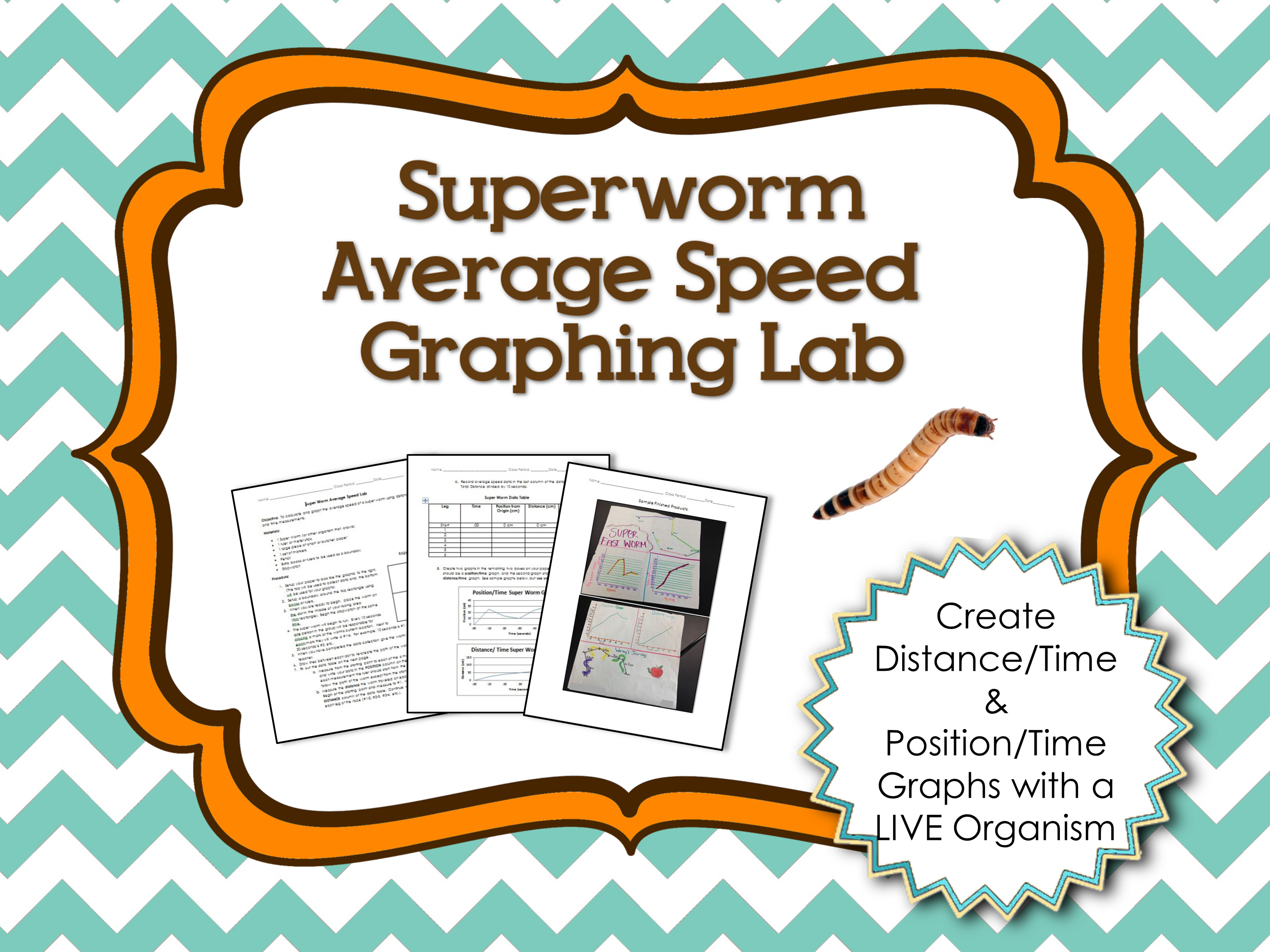 Average Speed And Graphing Lab With Superworms Science