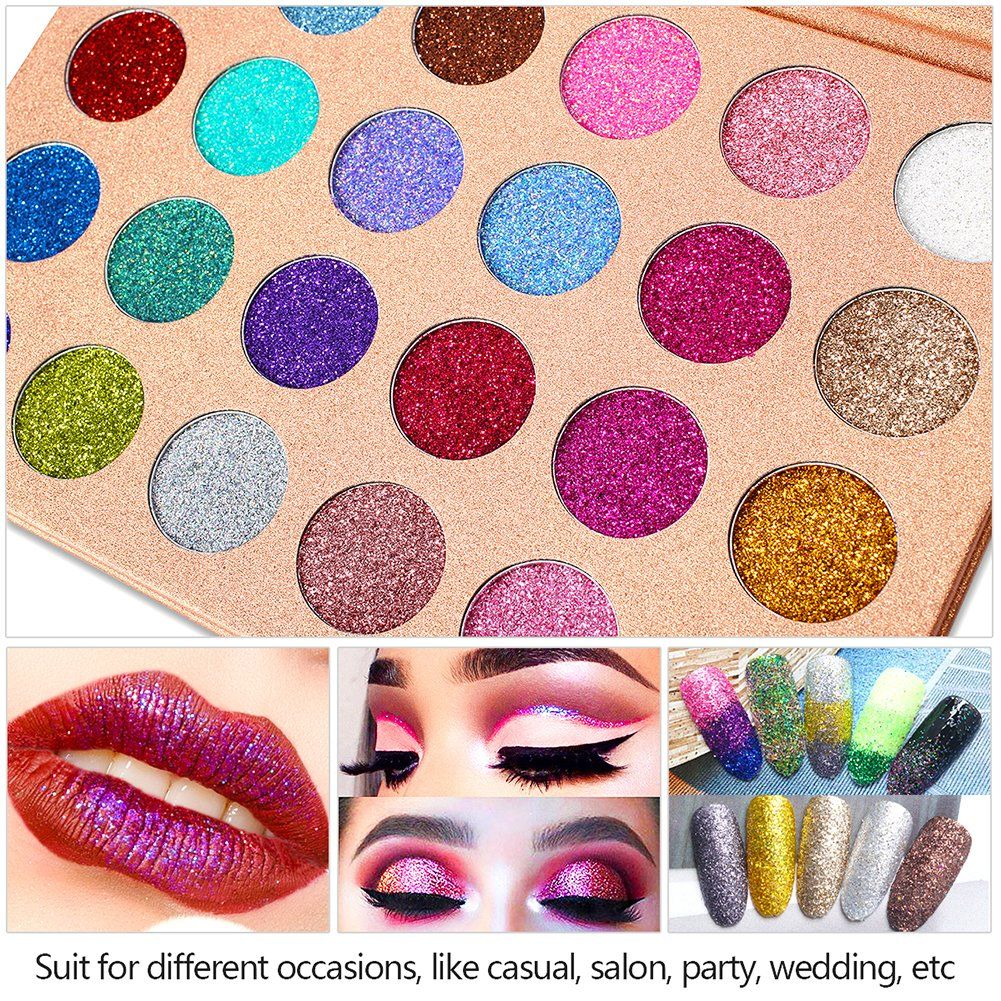 DELANCI Pressed Glitter Eyeshadow Palette Professional