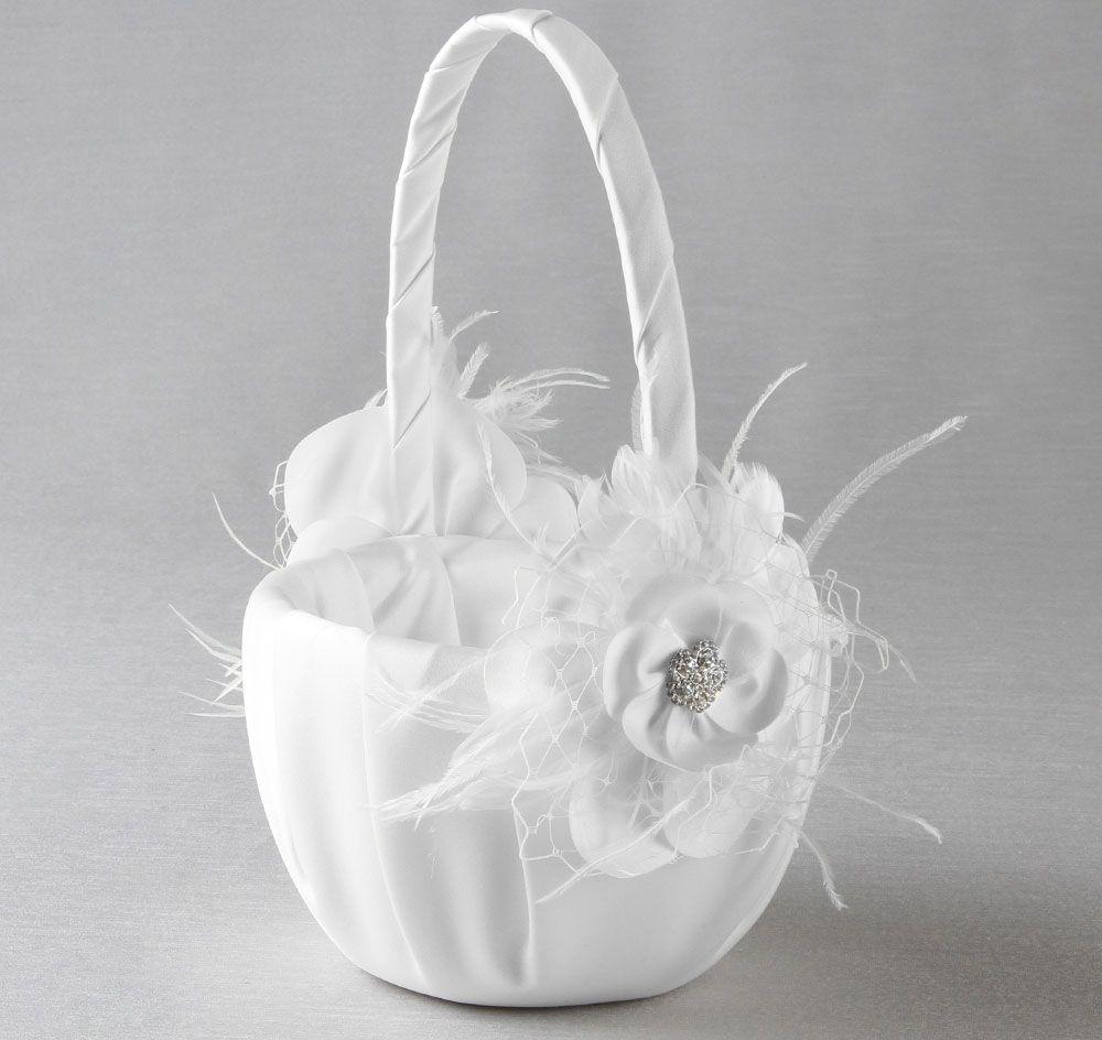 Somerset Flower Girl Basket Vintage Flowergirl Basket Wedding