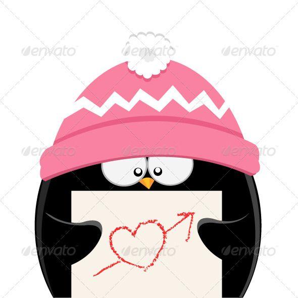 Penguin Love, Heart Shapes