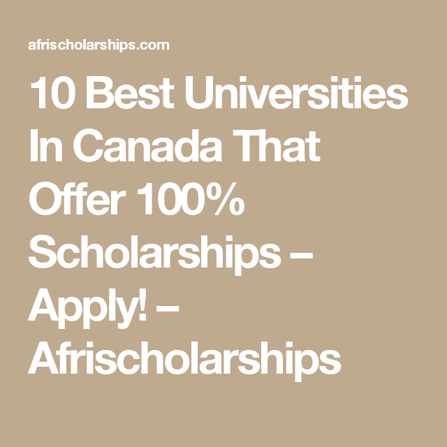 Scholarships for Indian Students to Study in Canada – 2019 ...