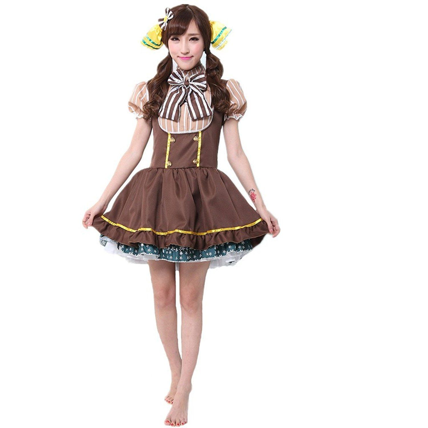 Lifeye Fashion Ladies Love Live Cute Maid Cosplay Anime