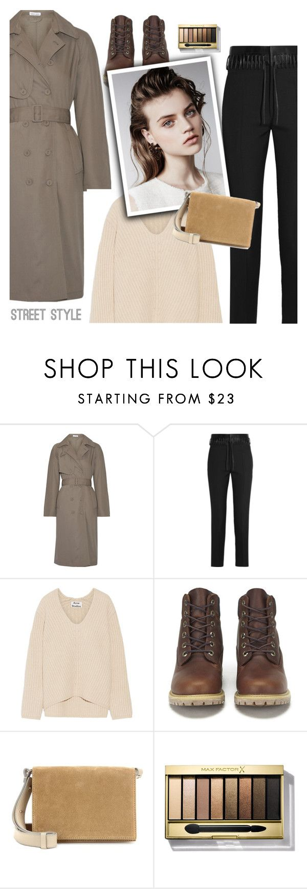"""""""16.01.2017"""" by bliznec-anna ❤ liked on Polyvore featuring Tomas Maier, Haider Ackermann, Acne Studios, Timberland, Victoria Beckham, Max Factor and polyvorefashion"""