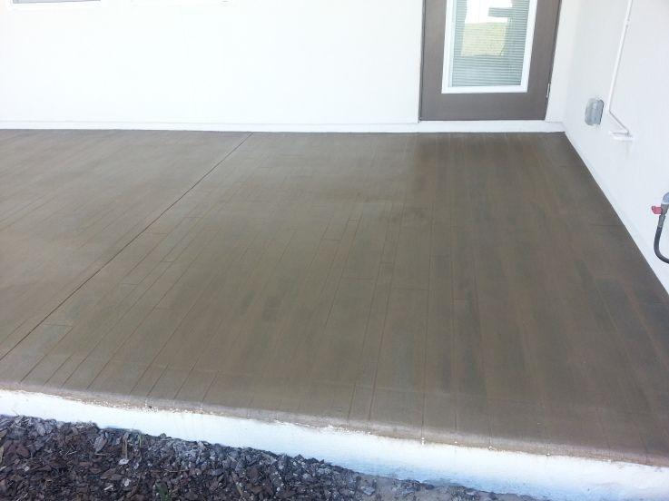 Concrete Faux Wood Floor Jacksonville Beach Fl Rustic