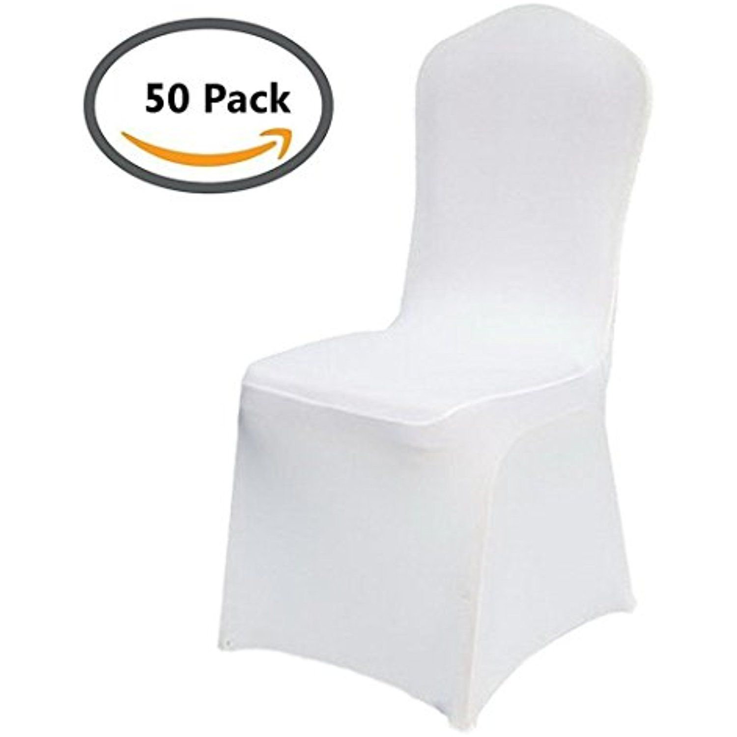 50pcs Universal Lycra Spandex Chair Covers for Wedding Hotel Party