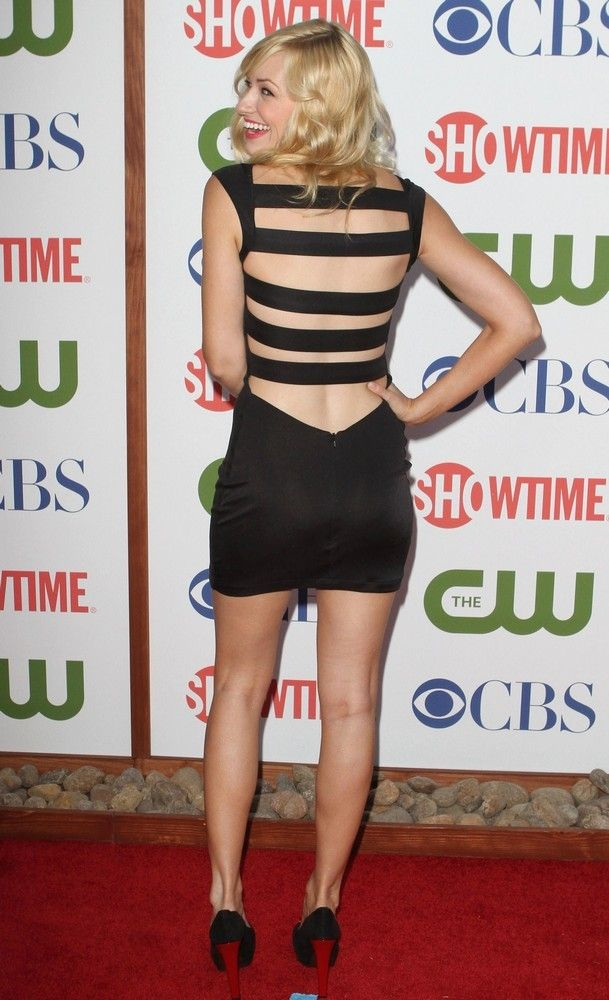 Beth Behrs in LBD at The CW And Showtime TCA Party