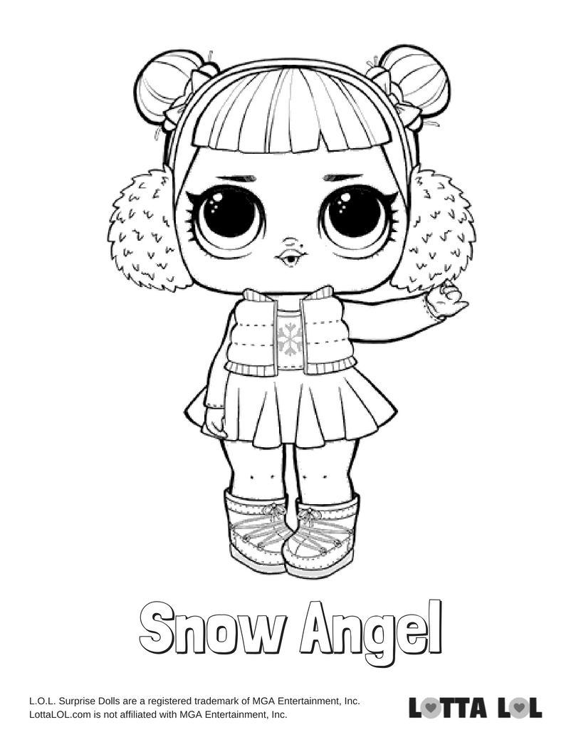 Snow Angel Coloring Page Lotta Lol Angel Coloring Pages Lol Dolls Coloring Pages