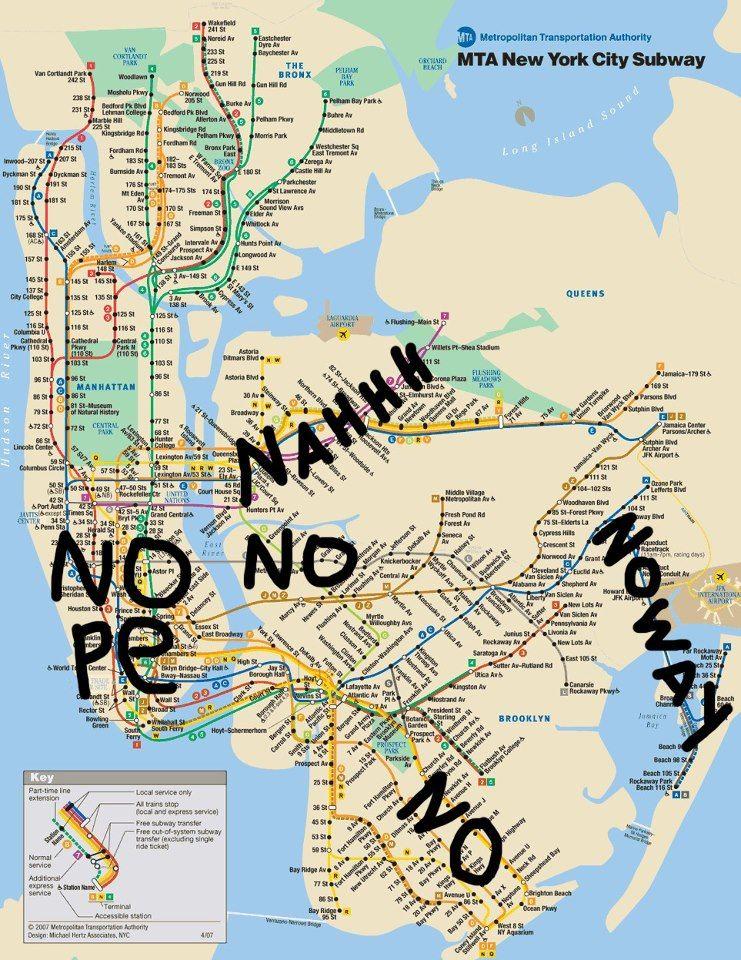 Nyc Subway Map Express Trains.Commuting Map After Hurricane Sandy Nyc Nyc Subway Map Subway
