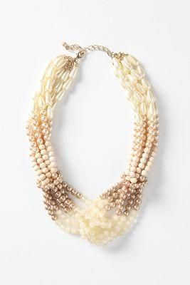 Anthropologie silken droplets necklace. Shape and tone. Knots