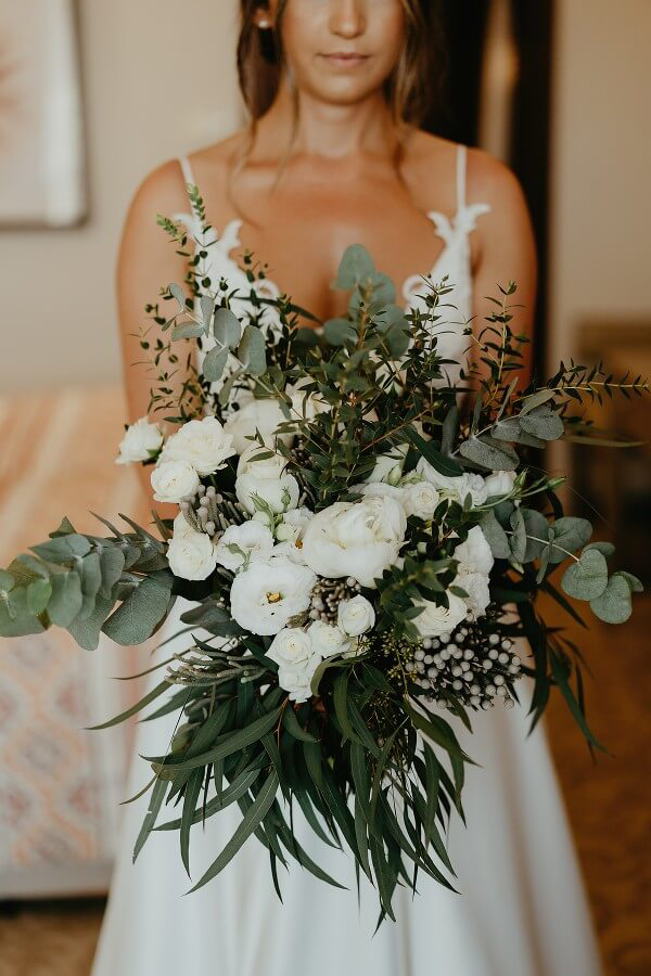 Rustic summer wedding with greenery and white flowers in Paphos | Eleni & Dean - Chic & Stylish Weddings