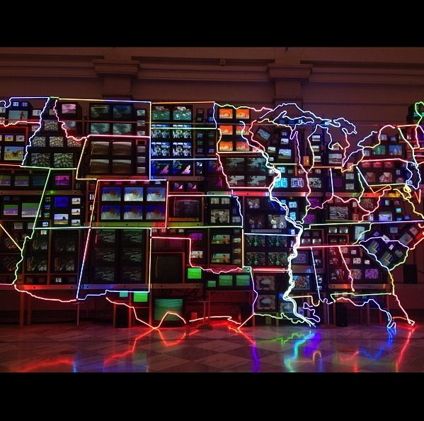 Electronic Superhighway exhibit in National Portrait Gallery