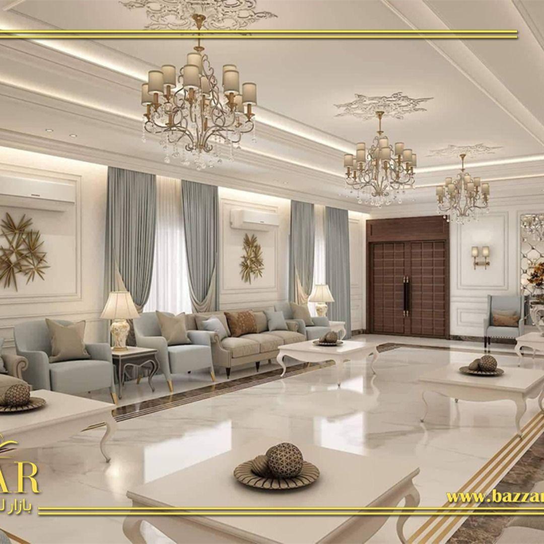 ديكور مجلس رجال نيوكلاسيك فخم ومميز اختار المصمم اللون الابيض لطلاء الجدران و تم تزيين الحوائط بالبانوهات مما اعطى مظهرا مل Moroccan Home Decor Home Decor Home