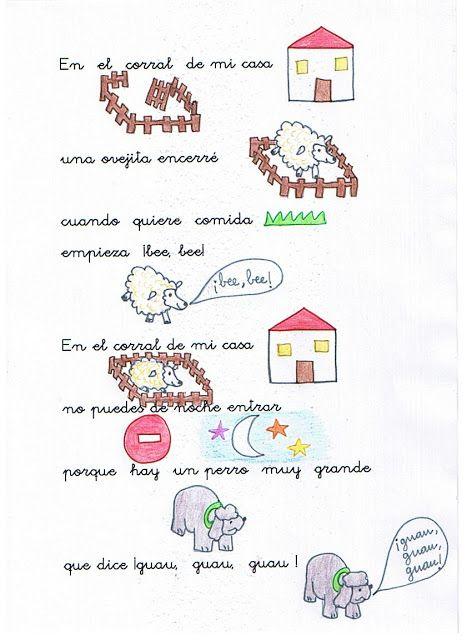 Educación Infantil Unidad 6 La Familia De Los Animales Lectura Cortas Para Niños Poesía Para Niños Letras De Canciones Infantiles