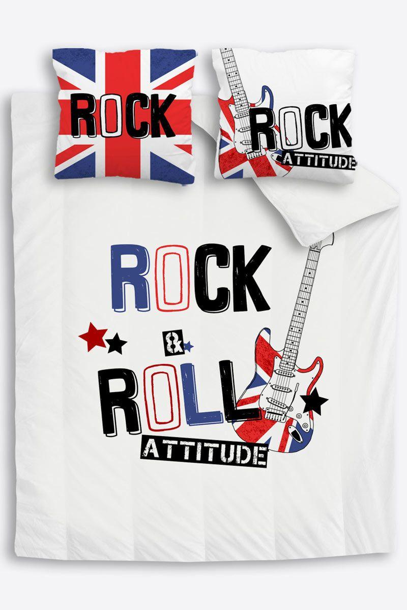 Housse De Couette Ado London Rock Union Jack Parure Housse De Couette Housse De Couette London Housse De Couette