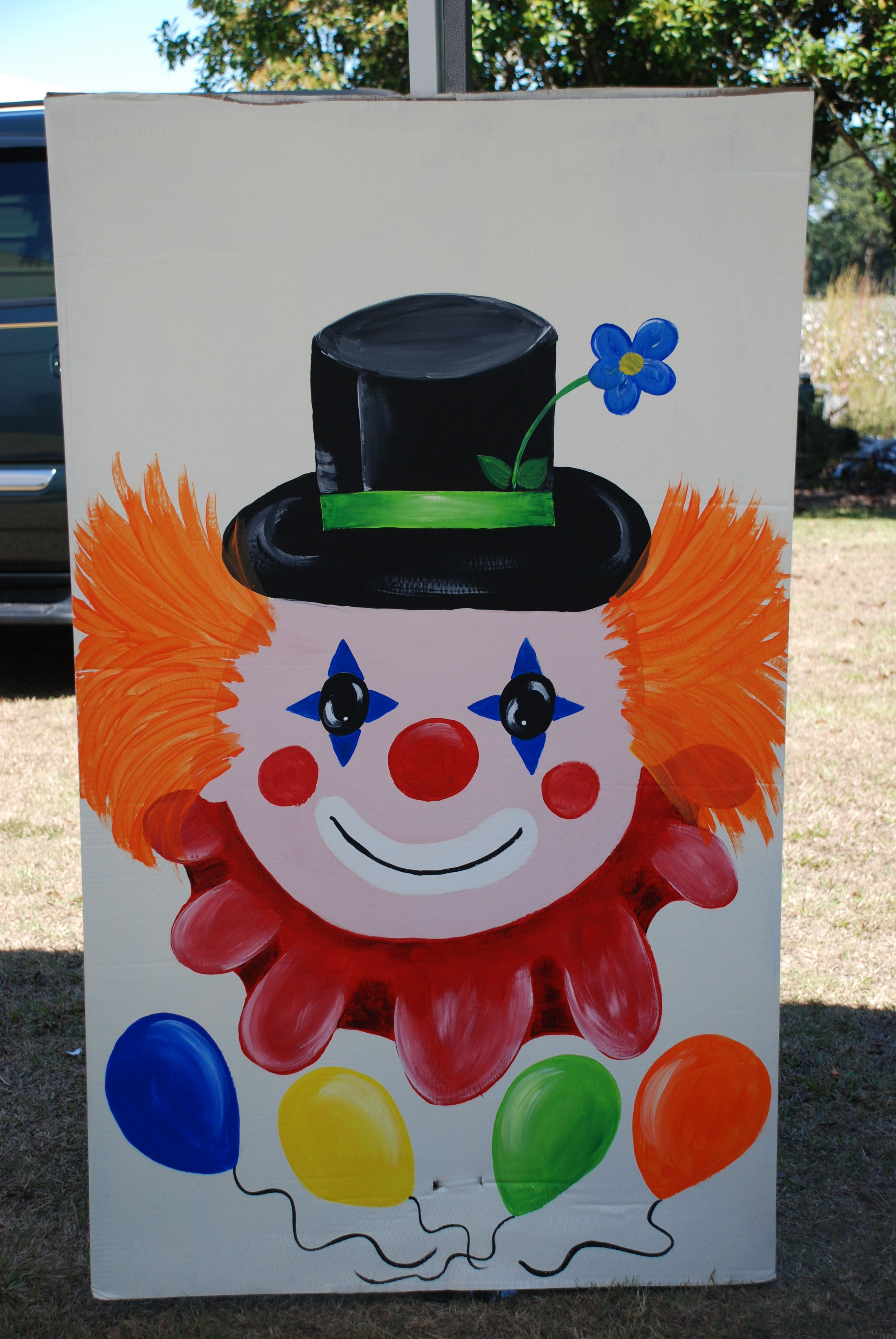 Clown decoration for carnival birthday party...