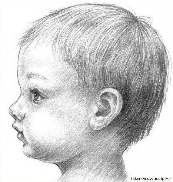 Como Dibujar La Cara De Un Nino De Perfil Profile Drawing Drawing People Portrait Drawing