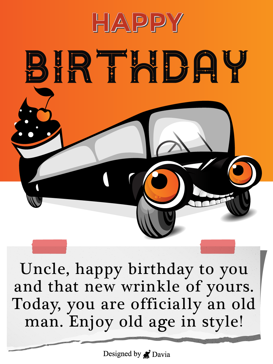 Car Birthday For Uncle Cards Birthday Greeting Cards By Davia In 2021 Happy Birthday Uncle Cars Birthday Birthday Greeting Cards