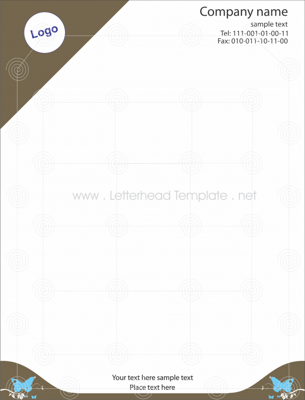 Butterfly Letterhead Template Preview  Places To Visit
