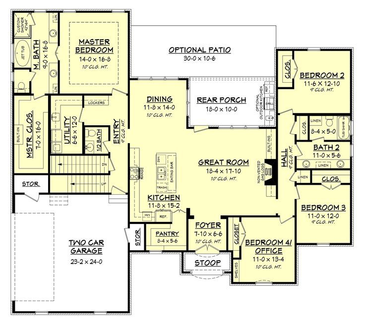 Image result for house plan open floor plan walk in pantry ... on ranch house floor plans with garage, ranch house floor plans with 4 bedrooms, ranch house floor plans with mud room,