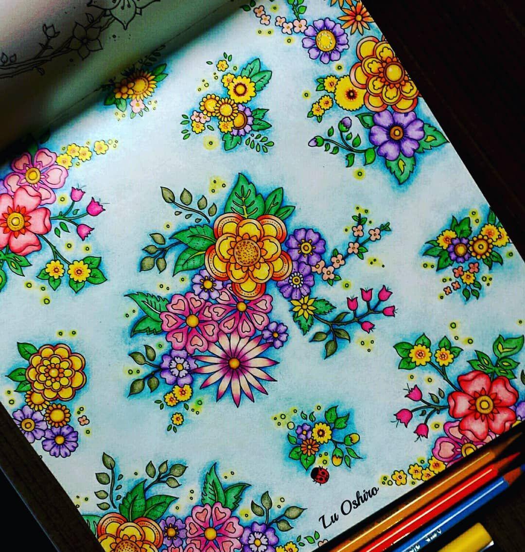 Ainda Nao Tinha Colorido Nada Do Novo Livro Da Johannabasford Mas