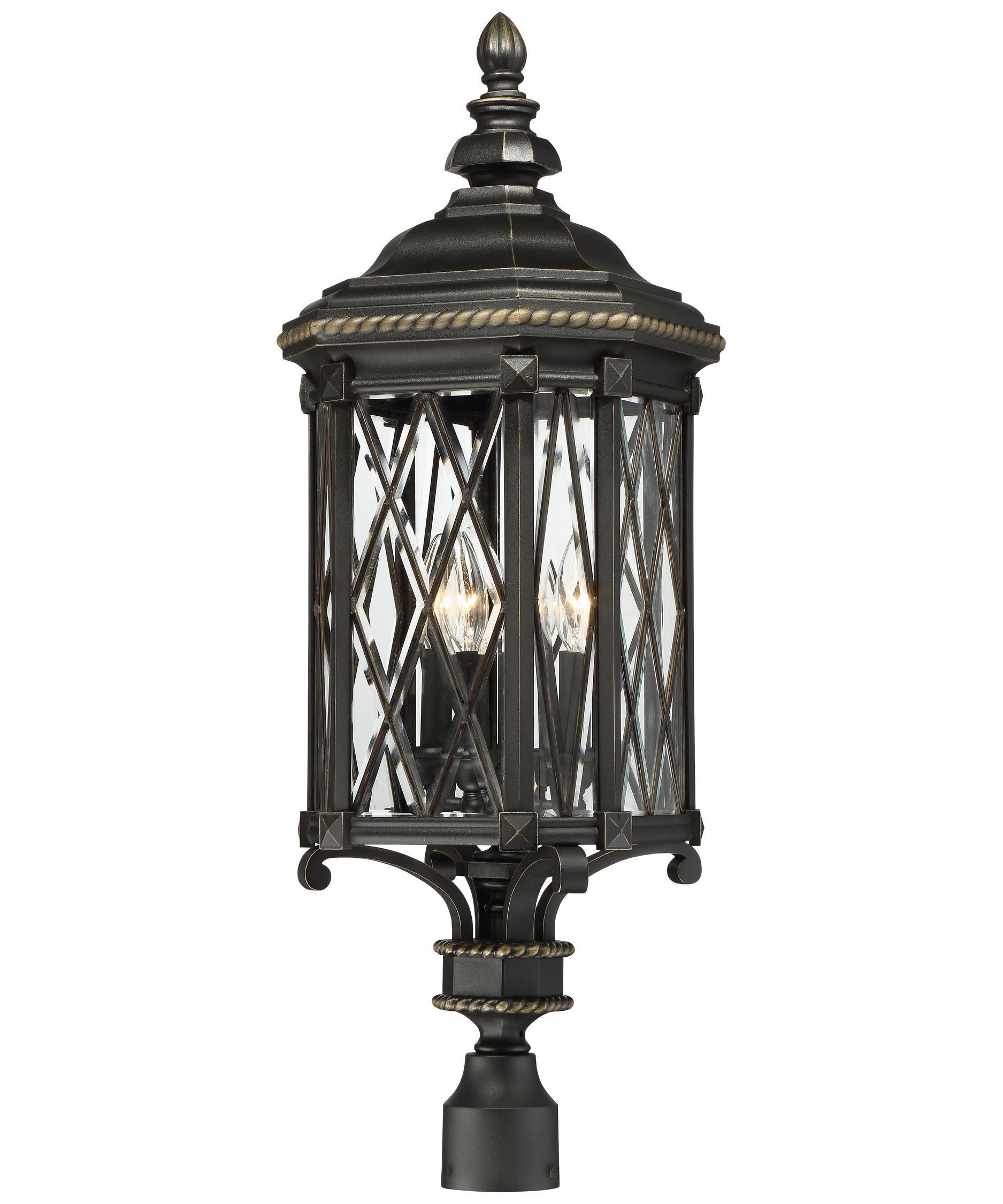 Bexley Manor 32 Inch Tall 4 Light Outdoor Post Lamp By Minka Lavery Outdoor Post Lights Post Lights Post Lighting