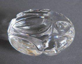 ac2ff0c9127 Steuben glass hand cooler Rabbit-