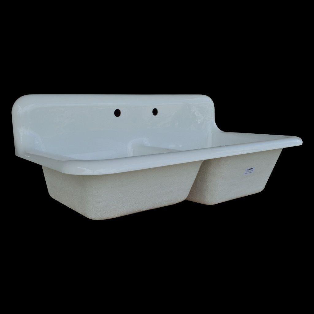Large Double Basin High Back Farmhouse Style Sink Model Dbr5124 Drainboard Sink Sink Farmhouse Sink Kitchen