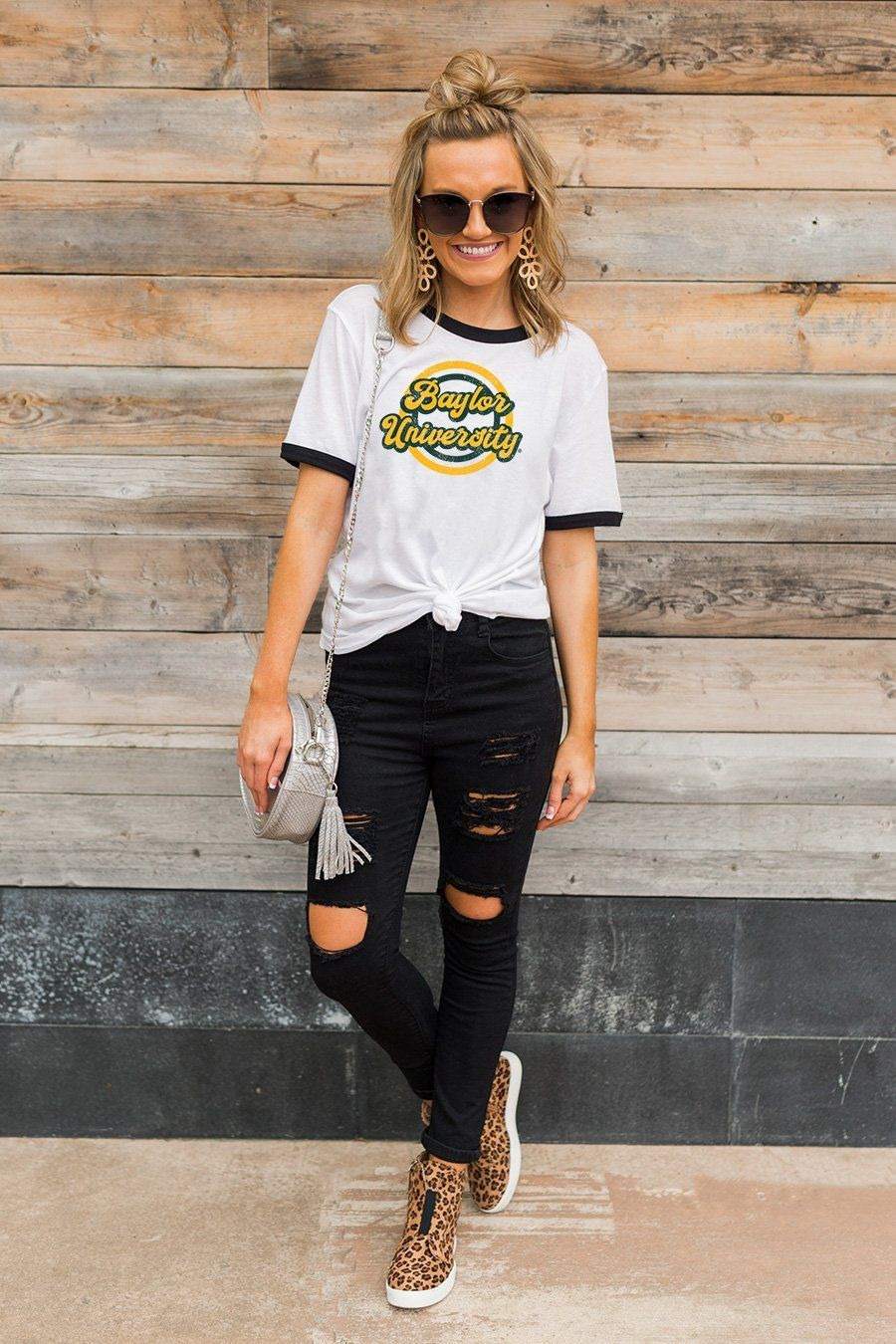 """Baylor Bears """"Ring You Later"""" Ringer Tee in 2020"""