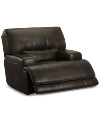 Stupendous Closeout Warrin Leather Power Glider Recliner Created For Alphanode Cool Chair Designs And Ideas Alphanodeonline