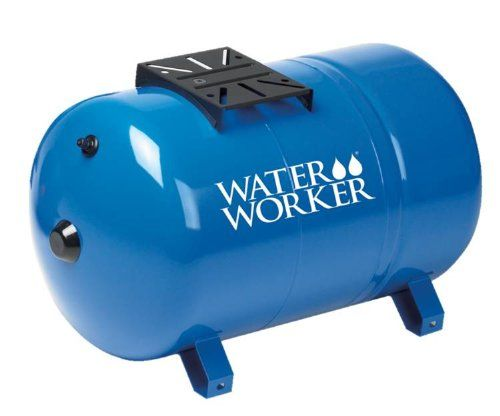 Waterworker Ht20hb Horizontal Pressure Well Tank 20 Gallon Capacity Blue Pressure Tanks Well Tank Well Pressure Tank