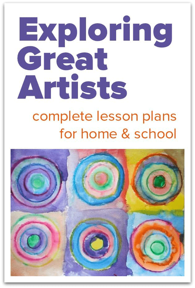 Exploring Great Artists  complete art lesson plans is part of Art lesson plans, Elementary art lesson plans, Art lessons, Art lessons elementary, Art for kids, Kids art projects - Exploring great artists  complete art lesson plans for elementary and preschool  Artist history lessons and handson, creative art projects