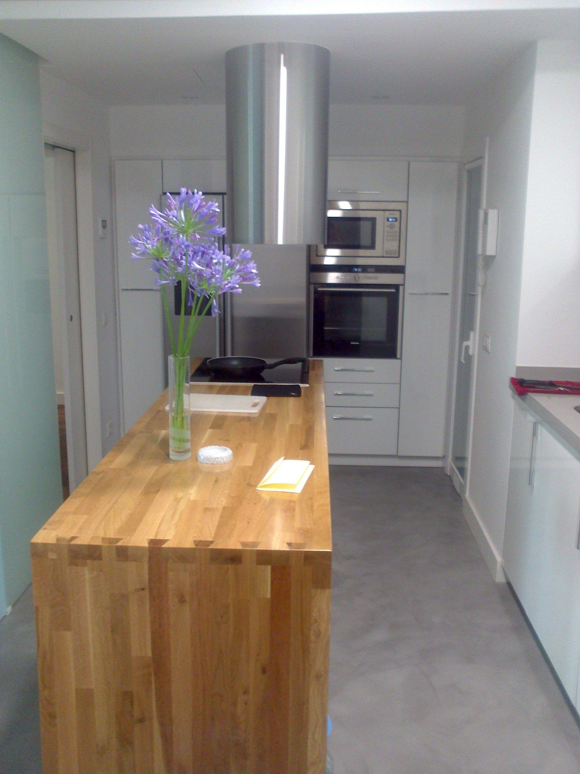 Mesa de cocina de madera maciza   Cocinas   Muebles, Cocina madera y ...
